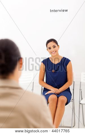 beautiful asian woman doing job interview with female interviewer