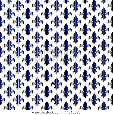 Fleur-de-Lys naadloze patroon