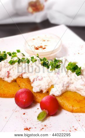 Potato Pancakes With Cottage Cheese