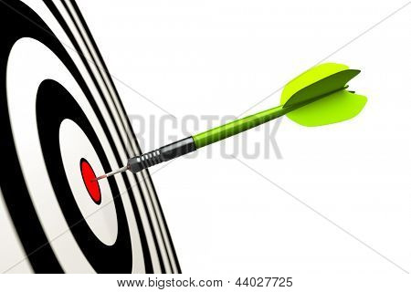An image of a green dart arrow