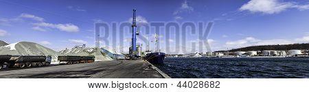 Aabenraa Harbor In Denmark