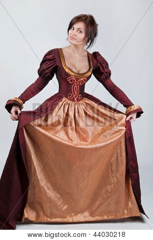 Beautiful Pair Of Stylized Medieval Costumes