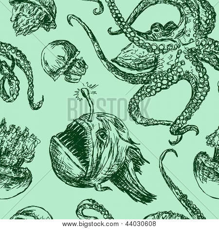 Background With Sea Creatures.eps