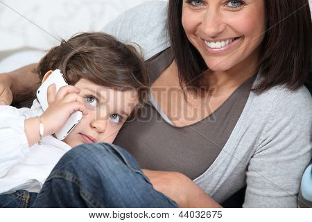 Woman spending time with her child