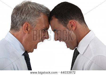 Two businessmen having an argument