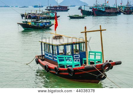 Port in Cat Ba, Vietnam (in Halong Bay)