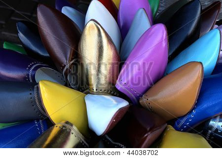 Group Of Colorful Leather Shoes