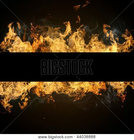 fire flames with copyspace