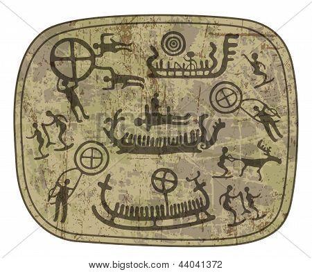 schamanischen petroglyph