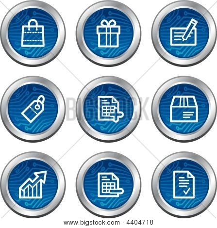 Shopping Web Icons, Blue Electronics Buttons Series