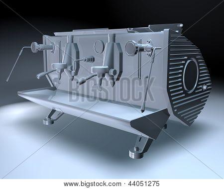 3D Coffee Maker Machine