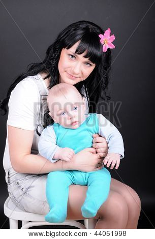 Beauty Woman With Newborn
