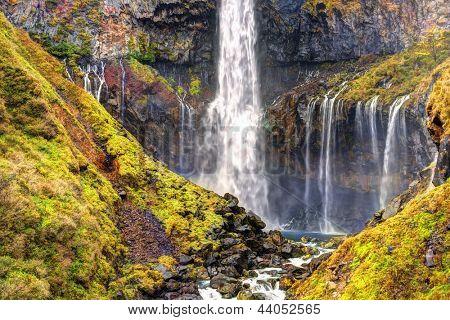 Kegon Waterfalls in Nikko, Japan.