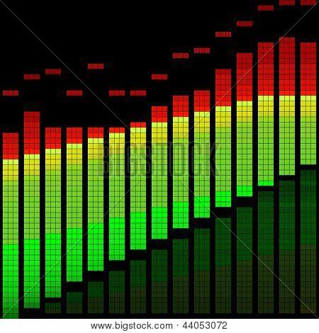 Vector Illustration Of A Digital Equalizer