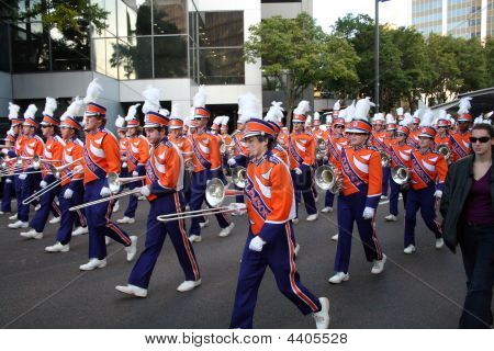 Clemson Marching Band In Gator Bowl Parade