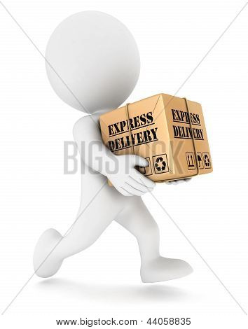 3d white people express delivery