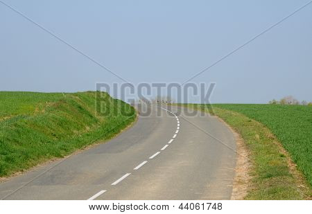 France, A Country Road In Condecourt