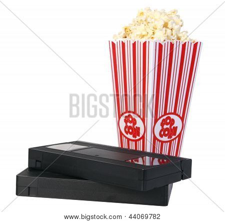 popcorn and old vhs