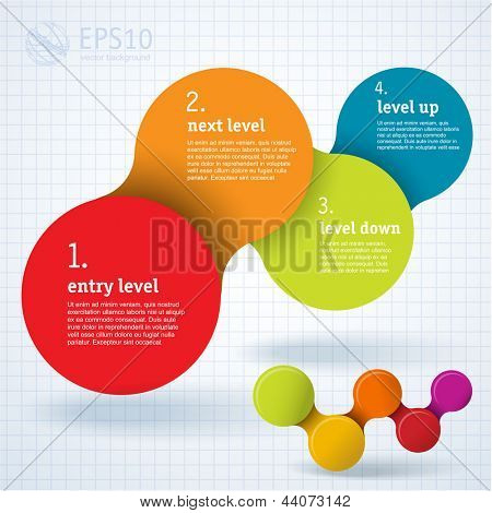 Simply minimal infographic template design. Vector.
