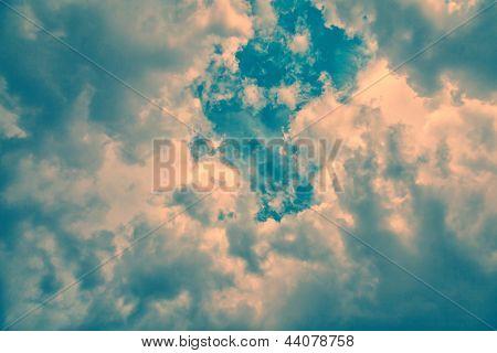 Vintage Clouds Background