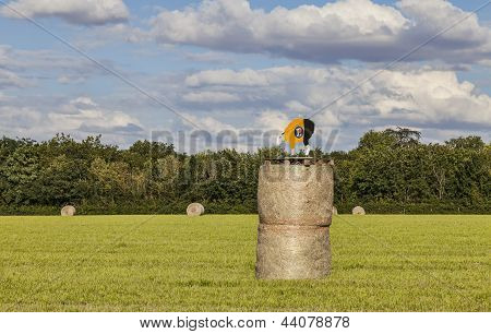Hay Bales During Le Tour De France