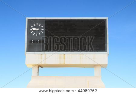 Score Board At Football Stadium