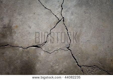 Cracked Cement Floor