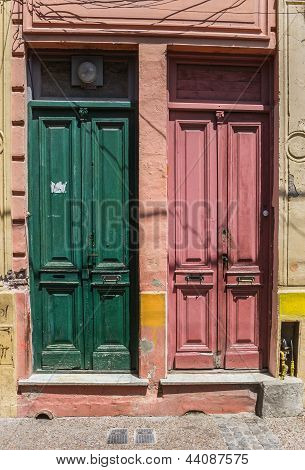 Colorful Doors Of La Boca
