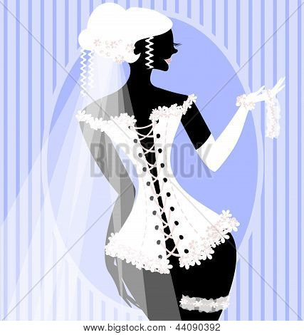 bride in a corset
