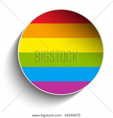 Gay Flag Circle Striped Sticker