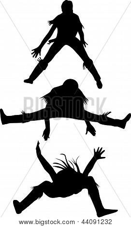 Dance Woman Silhouette Vector