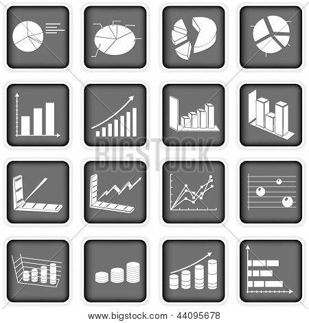 Statistik-Grafik-Symbole