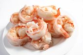 Cooked Prawns On A Plate poster