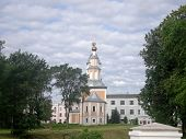 stock photo of uglich  - exterior of a historic buiding in Russia - JPG