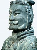 foto of qin dynasty  - terracotta soldier of ancient chiese emporer qin shihuang - JPG