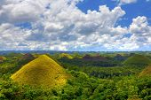 image of chocolate hills  - View of the Chocolate Hills in Bohol - JPG