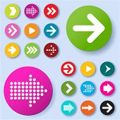 stock photo of arrowhead  - Arrow icon set - JPG