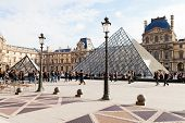 The Louvre Palace And The Pyramid, Paris