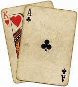 Ace King Known As The Big Slick Poker Hand. poster