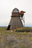 stock photo of wigwams  - Old Wigwam burner at a old lumber mill site in Seneca Oregon along State Hwy 395 just south of John Day - JPG