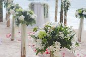 stock photo of cabana  - wedding arch - JPG