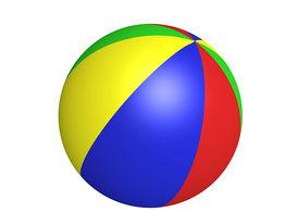 pic of beach-ball  - colorful beach ball - JPG