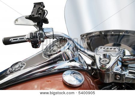Top View Of A Classic  Motorcycle