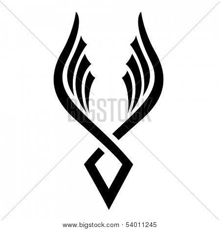 Illustration of Black Bird Icon isolated on a white background
