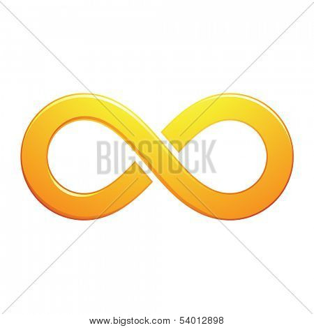 Illustration of Infinity Symbol Design isolated on a white background
