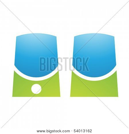 Illustration of PC Accessories Speakers isolated on a white background