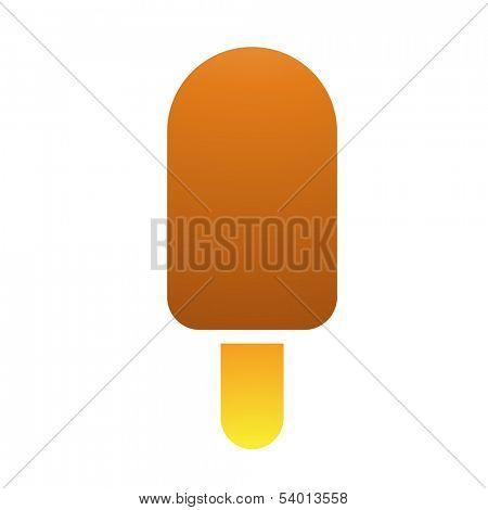 Illustration of Ice Cream Stick isolated on a white background