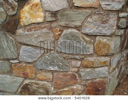 Retaining Wall Made Out Of Stone