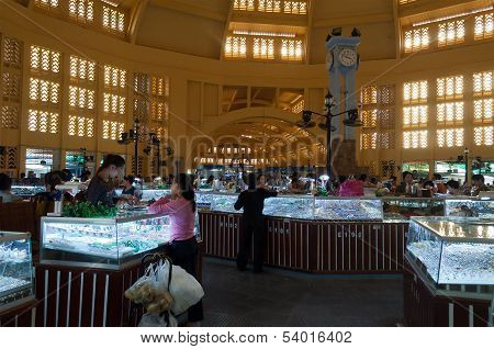 Central Market, Phnom Penh. Cambodia
