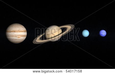 Planets Jupiter Saturn Uranus And Neptune